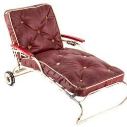 Miniature, Salesman's Sample: Patio Chaise Lounge Chair