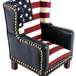 Miniature, Modified Wing-Back Armchair