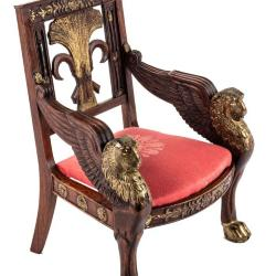 Miniature, Empire-Style Chair
