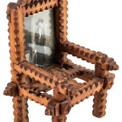 Miniature, Tramp Art Chair