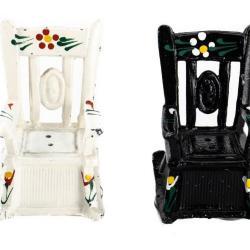 Miniature, Salt & Pepper Shaker Chairs