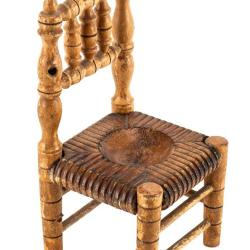 Miniature, Turned and Carved Style Chair
