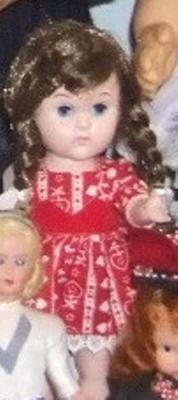 'ginny' Doll In Red And White Dress