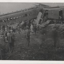 Photograph train wreck