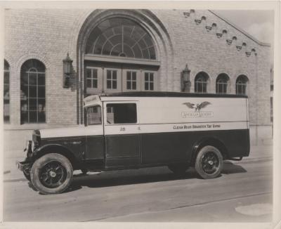 Photograph, American Laundry Panel Truck