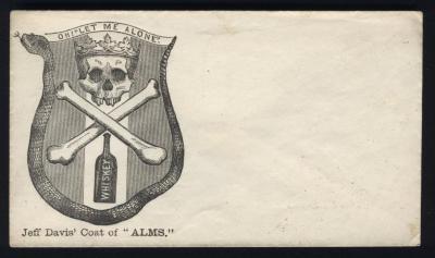 "Civil War Envelope, Jefferson Davis' Coat Of Alms"""