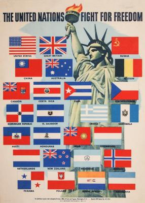 Poster, Oversized, The United Nations Fight For Freedom, World War Ii