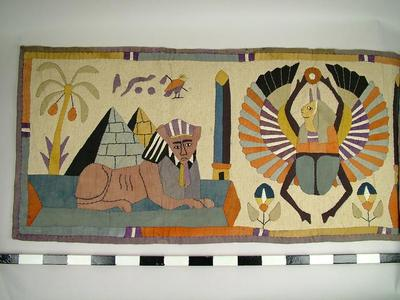Appliqued Wall Hanging, Egyptian
