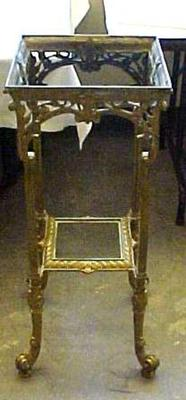 Brass And Marble Table Or Stand, 3-tiered