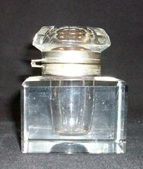 Glass Lidded Inkwell