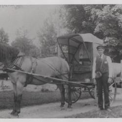 Photograph, man and a buggy