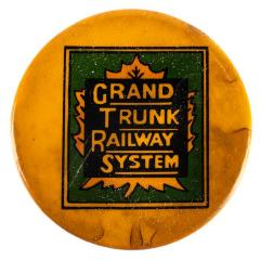 Pin-back Button, Grand Trunk Railway System