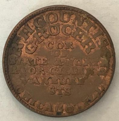Token, R. H. Countiss, Grocer And Tea Dealer