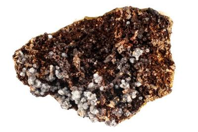 Calcite on Descloizite