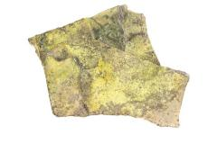 Carnotite on Limestone with Pitchblende