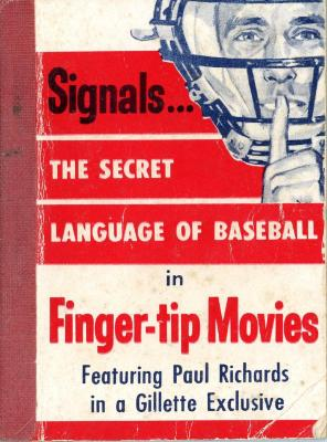 "Booklet, ""Signals...The Secret Language of Baseball in Finger tip Movies"""