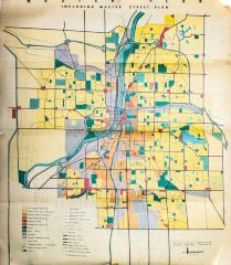 Street Plan, 'master Street Plan' Of Grand Rapids