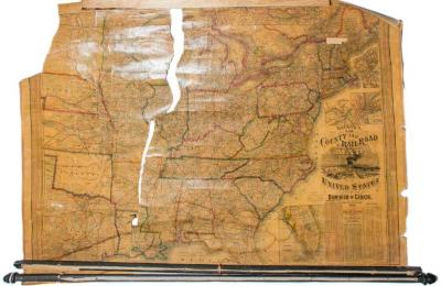 Map, 'u. S. County And Railroad Map.'