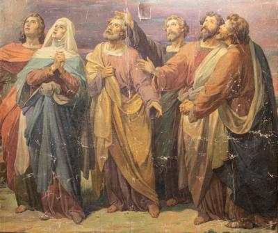 Mural, 'saints'