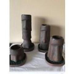 Munktiki Brown Excavated Moai Mug Set With Astroturf Coasters