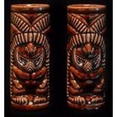 Pair of Mai-Kai Hukilau 2003 Tiki Mugs