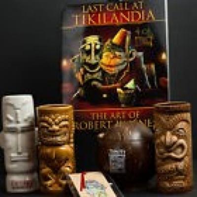 Last Call At Tikilandia Tiki-Ti Coconut Tiki Mugs