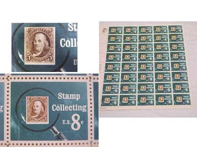 Pane Of Stamps, U. S. 8 Cents