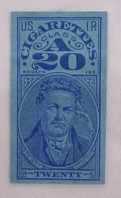 Revenue Stamp, U.S.I.R., Cigarettes, A 20