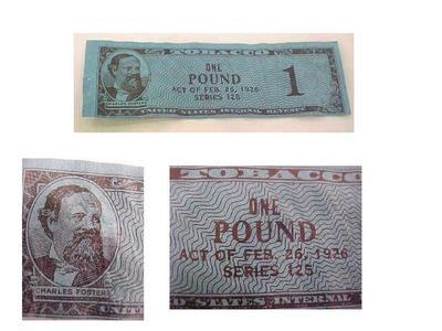 Revenue Stamp, U.S.I.R. One Pound Act, Series 125, Tobacco Revenue