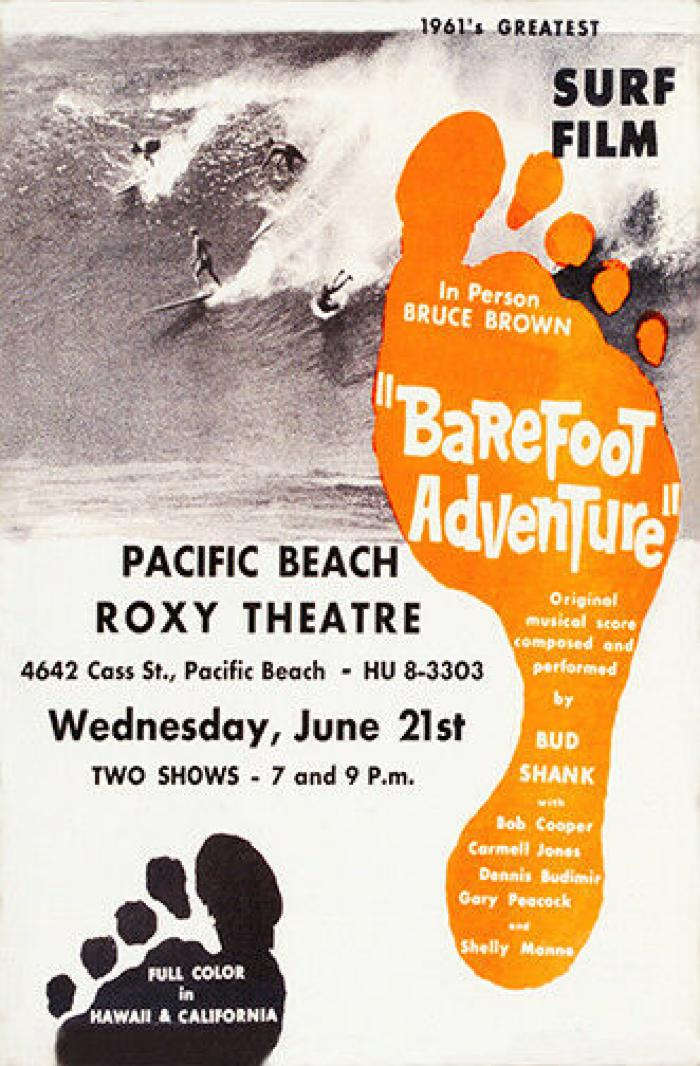 """1961 Bruce Brown """"Barefoot Adventure"""" Surf Movie Classic"""