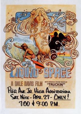 "1970s ""Liquid Space"" Surf Movie Poster"