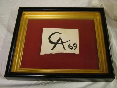 Autograph, Initials Of Alexander Calder