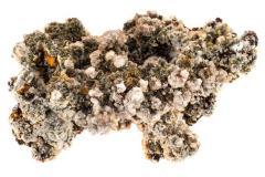 Calcite, Dolomite on Limonite with Wulfenite