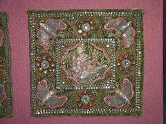 East Indian Sequined Textile Square