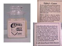 Bottle, Chaffee Planetarium Comet Pills