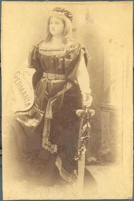 Photograph, Woman With Germania Shield And Giant Sword, K.3.2