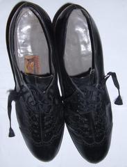 Shoes, Black, Lace-up, Women's