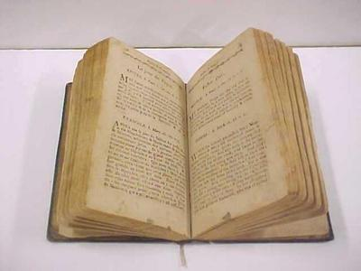 Book, Bible, Epistles And Gospels,  Louis Campau, 1812