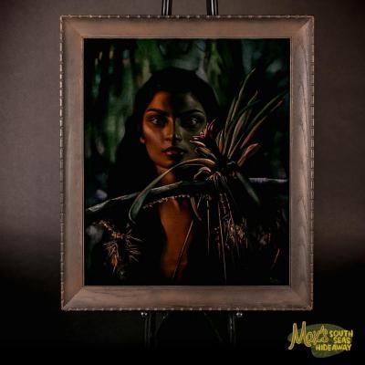 Ralph Burke Tyree Black Velvet Painting