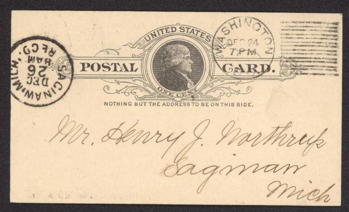 Correspondence relative to Pension Henry J. Northrup