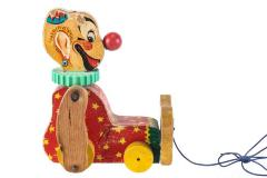 Squeaky the Clown Pull Toy
