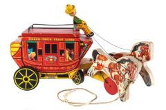Gold Star Stagecoach Pull Toy