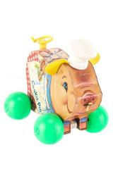 Cookie Pig Pull Toy