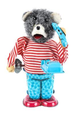 Telephone Bear Wind-Up Toy