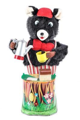 Coffeetime Bear Mechanical Toy