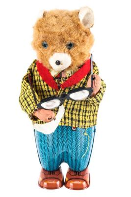Bruno the Spectacle Bear Wind-Up Toy