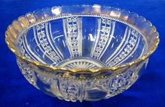 Bowl, Glass With Gold Trim