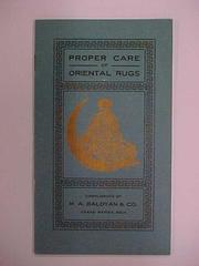Booklet, Proper Care Of Oriental Rugs