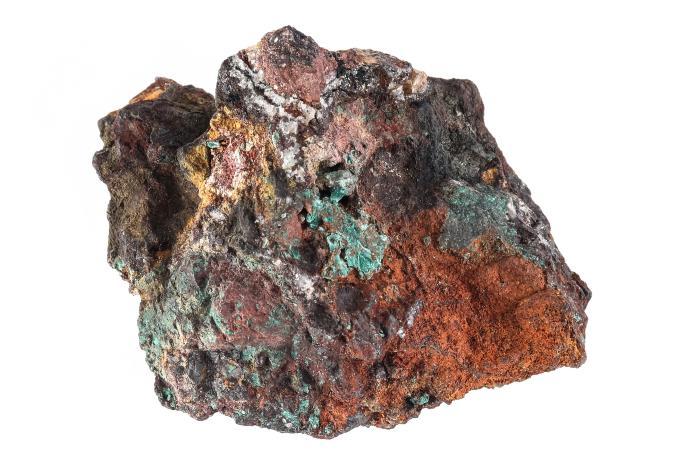 Gold, Copper, Malachite, and Quartz