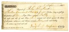 """Receipt, For Purchase Of One """"Negro Slave Named Sally"""""""